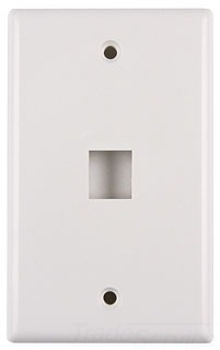 FPSINGLEFW TYTON 1 PRT FLUSH FACEPLATE OFFICE WHITE