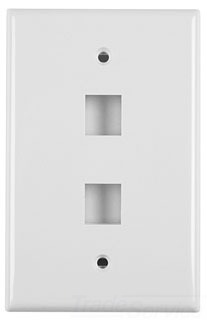 FPDUALFW TYTON 2 PRT FLUSH FACEPLATE OFFICE WHITE