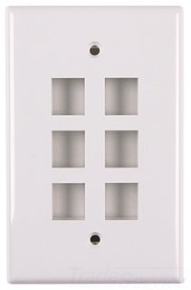 FPSIXW TYTON 1 PRT FLUSH FACEPLATE WHITE