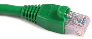PCGRN10 TYTON 10 FT GREEN PATCH CORD - CAT 5E