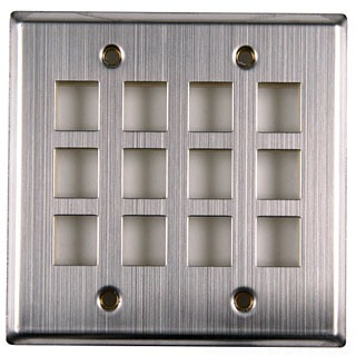 FPDG12SS TYTON 12 PRT DUAL GANG FACEPLATE STAINLESS STEEL