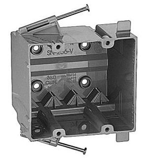 SN-236-V CAR 2-GANG NAIL ON 36 CUIN BOX W/VCLAMP