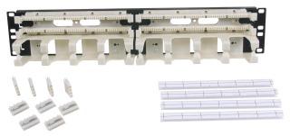 110RM14 HUBBELL 110 SYS, RACK MT KIT,4PR,W/TROUGH,100PR
