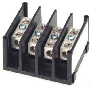 1413300 MAR 600V POWER DISTRIBUTION BLOCK 3POLES 115AMPS THERMOPLASTIC 1LINE #2-#14 X 1LOAD #2-#14AWG 78433714133