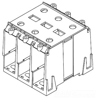 CH1323 MAR POWER BLOCK COVER SNAPON HINGED THERMOPLASTIC 125DEG-C 78433761323