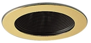 NS-41G NORA STEPPED BLACK BAFFLE WITH GOLD RING