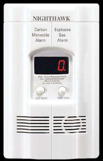 900-0113-02 KN-COEG-3 FIREX CO & EXPL. GAS 120V PLUG-IN ALARM