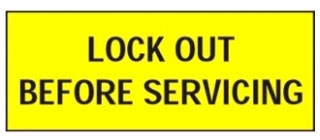 PVS0204C176Y PAN LOCKOUT SAFETY SIGN