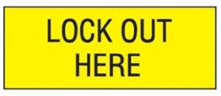 PVS0204C177Y PAN LOCKOUT SAFETY SIGN