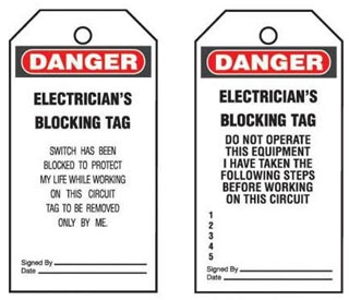 PVT-30 PAN SAFETY TAGS