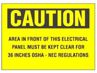 PPS0710C141 PAN CAUTION SIGN
