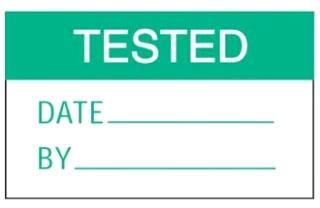 PLD-7 PANDUIT WARN LABELS,'TESTED',GR/WH,PK1 07498387987