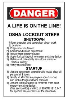 PSL-STEPS PAN 25 OSHA LOCKOUT STEPS