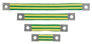 BS101245 PAN BRAIDED BONDING STRAP ONE-HOLE INSULAT