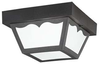 9320BK KICHLER OUTDOOR FLUSH MT 1LT INCANDESC 78392793205