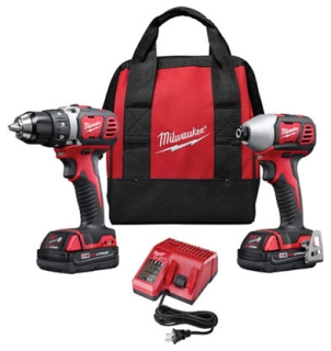2691-22 MILWAUKE 18V COMPACT DRILL AND IMPACT DRIVER KIT