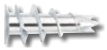 2346 RAW ZINC ZIP-IT HOLLOW WALL ANCHOR W/O SCREWS