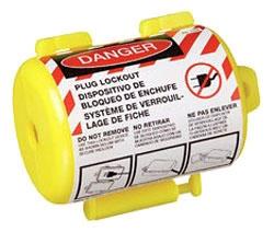 44-793 IDEAL LABELED SAFETY/PLUG LOCKOUT,IDEAL,1/2 IN CRD DIAMETER,SLR,110/220 V,PKG: 1/CARD