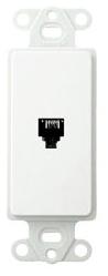40649-W LEV PHONE DECORA INSERT 4C RJ11 WHITE