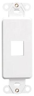 41641-W LEV 1-PORT DECORA INSERT - QUICKPORT WHITE