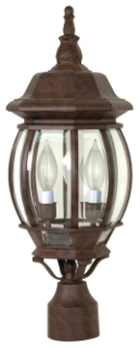 60/898 SATCO CENTRAL PARK POST LANTERN OLD BRONZE