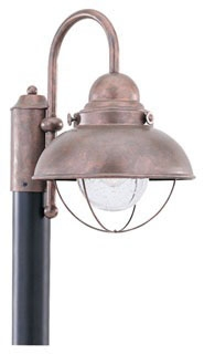 8269-44 SEAGULL LIGHTING SEBRING POST LANTERN WEATHERED COPPER