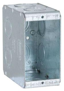695 RACO MASON BOX 1G 3 1/2DP CONCEN KO