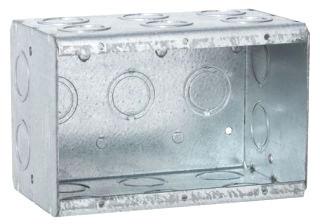 697 RACO MASONRY BOX 3G 3-1/2D CONCENTRIC KOS 05016900697