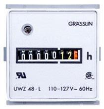 UWZ48E-120U I-MATIC AC HOUR METERS FLUSH MOUNT, COMBO QUICK CONNECT & SCREW TERMINALS, 120V, 60HZ 61457321210