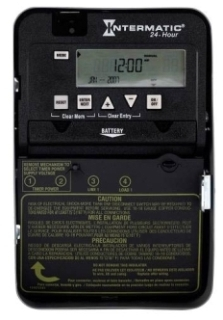 ET1105C I-MATIC 24-HOUR 30 AMP SPST ELECTRONIC TIMESWITCH - CLOCK VOLTAGE 120-277V NEMA 1