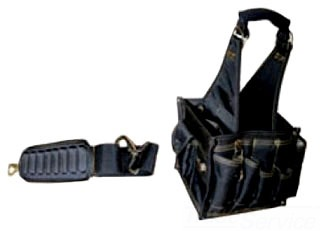 43707 RACK-A-TIERS SMALL 25 POCKET TRAY TOOL CARRIER WITH SHOULDER STRAP