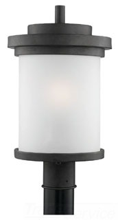 82660-185 SEAGULL 100W 120V MEDIUM A FORGED IRON ONE LIGHT OUTDOOR POST LANTERN