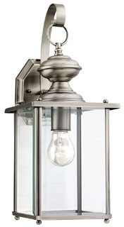 8458-965 SEAGULL 100W 120V MEDIUM A ONE LIGHT ANTIQUE BRUSHED NICKEL LANTERN