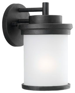 88660-185 SEAGULL 100W 120V MEDIUM A FORGED IRON ONE LIGHT OUTDOOR WALL LANTERN 78565208606