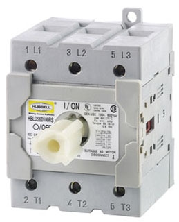 HBLDS60100RS HUB REPLACEMENT SWITC FOR 100A DISCONNECT HUBBELL