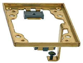 S5017G HUBBELL BRASS ADAPTER FRAME W/GROUND LUGS 78358535134