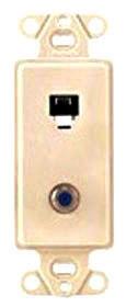 40659-T LEV PHONE/F CONN D CORA INSERT 6P4C LT ALMOND