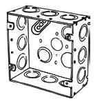 4SJDEK APP 4-11/16 SQ BOX 2-1/8 DEEP W/ ECCENTRIC KO'S