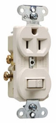 691LA P&S LT.AL. SP COMBO SW & RCPT SIDE WIRED 15A 120/277V