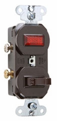 692 P&S BROWN SP COMBO SW &PILOT LT SIDE WIRED 15A 120/277V