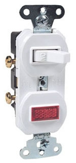 692W P&S WHITE SP COMBO SW&PILOT LT SIDE WIRED 15A 120/277V
