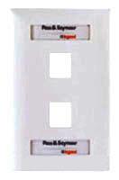 KTPDL1W P&S WHITE 1-PORT KEYSTONE WALL PLATE WITH LABEL WINDOW