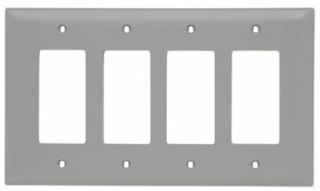 P&S TPJ264-GRY 4G DECORA PLATE GRAY