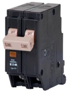CHF220 CH CIRCUIT BREAKER 2P 20 AMP 120/240V