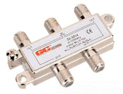 32-3022BU 4 WAY SPLITTER GC PKG QTY/10