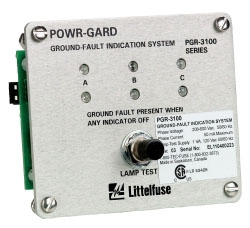 PGR-3100 LITTELFUSE GROUND FAULT INDICATION SYSTEM W/ LEDS