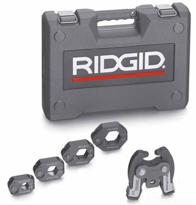 31028 RIDGE PRESS TOOL KIT,RIDGID,270 DEG BARREL/JAW SWIVEL ANGL,18V LI-ION 1.1 AMP-HR BAT 09569131028