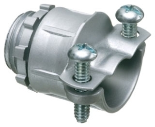 4201-A ARLINGTON TWIN SCREW ALL-PURPOSE CONNECTOR W/ INSULATED THROAT