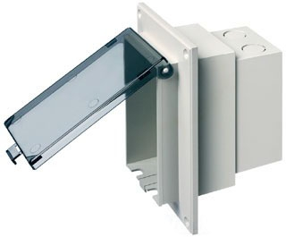 DBVR1C ARLINGTON INUSE RECESSED BOX CLEAR 4/CTN