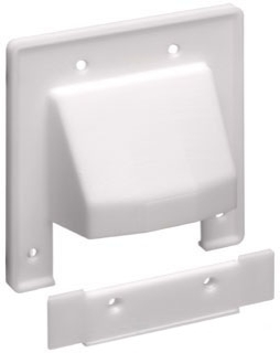 CER2 ARL SCOOP SERIES 2 GANG ENTRANCE PLATE WITH REMOVABLE LOWER PLATE